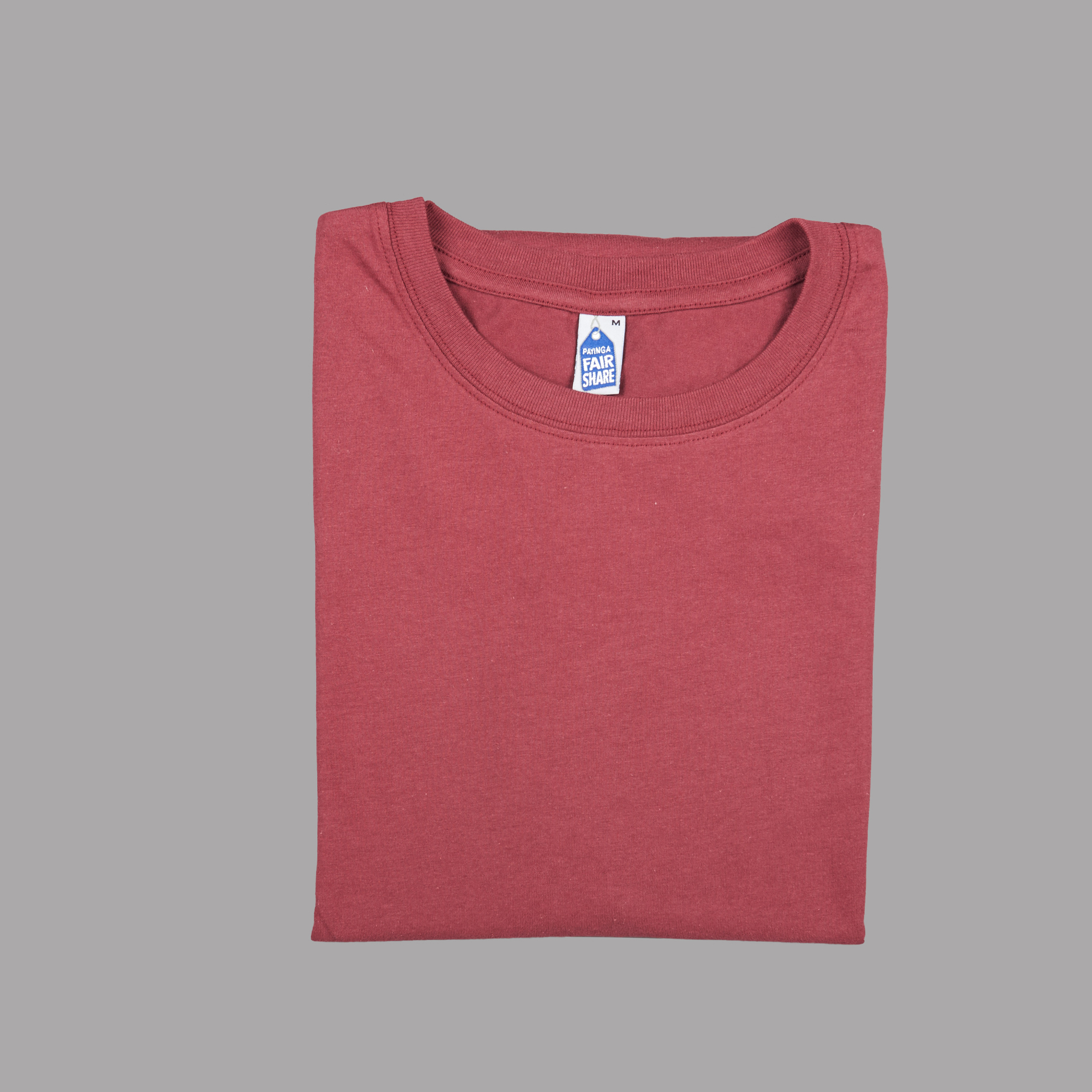Folded View Burgundy t-shirt from CDUK