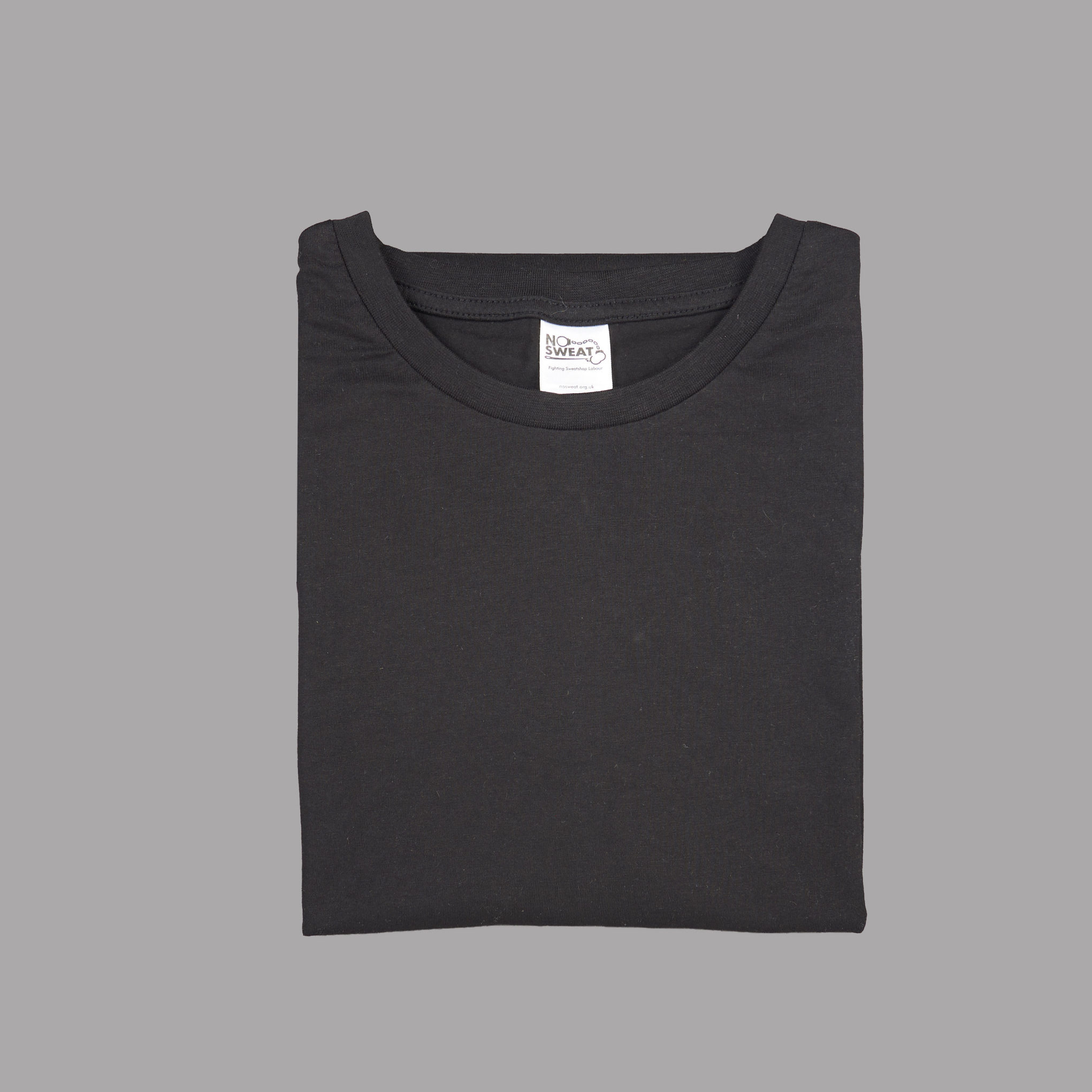 Folded View black t-shirt from CDUK