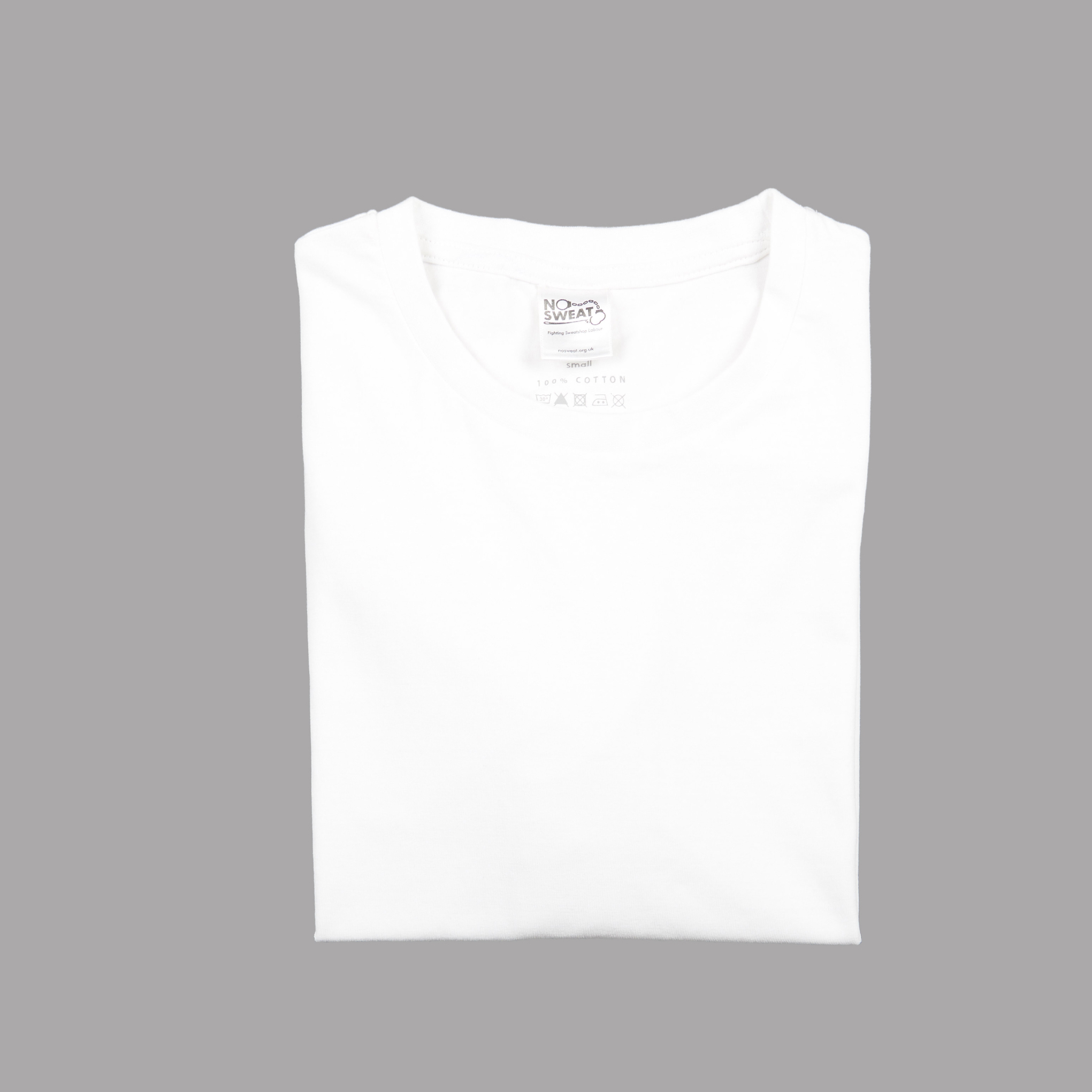 Folded View white t-shirt from CDUK