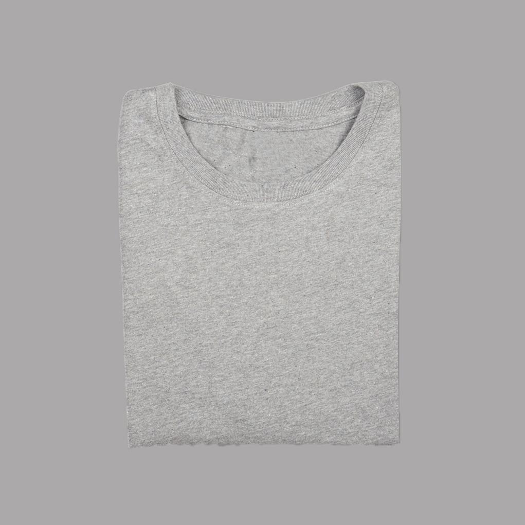 Grey-affordable-ethical-sustainable-unisex-tshirt-folded