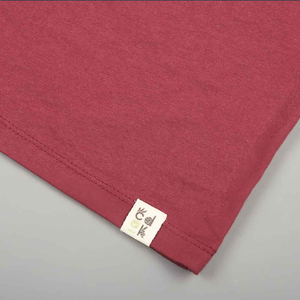 Label View Burgundy t-shirt from CDUK