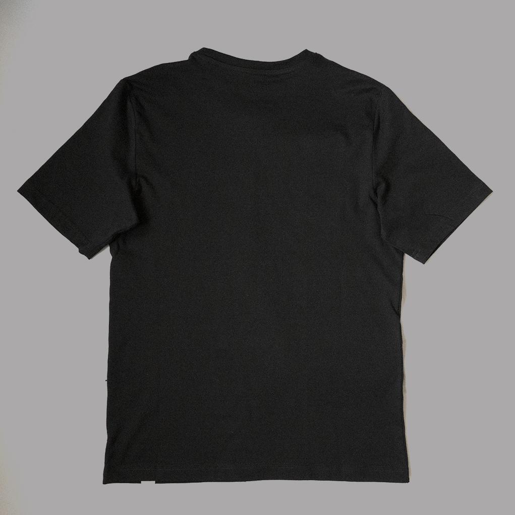 Black-affordable-ethical-sustainable-unisex-tshirt-back