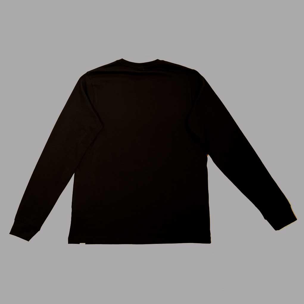 Black-affordable-ethical-sustainable-unisex-long-sleeve–back
